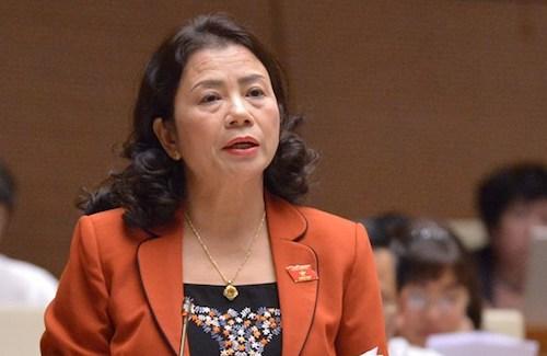 Phó chủ nhiệm Uỷ ban các vấn đề về xã hội Lê Thị Nguyệt. Ảnh: Trung tâm báo chí QH