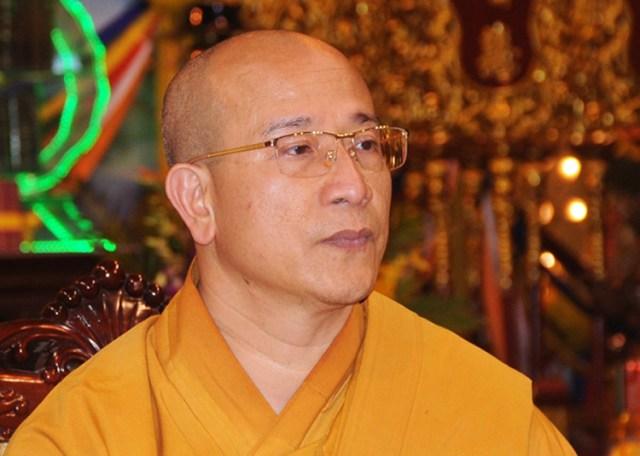 Đại đức Thích Trúc Thái Minh, trụ trì chùa Ba Vàng, Quảng Ninh. Ảnh: Viết Tuân.
