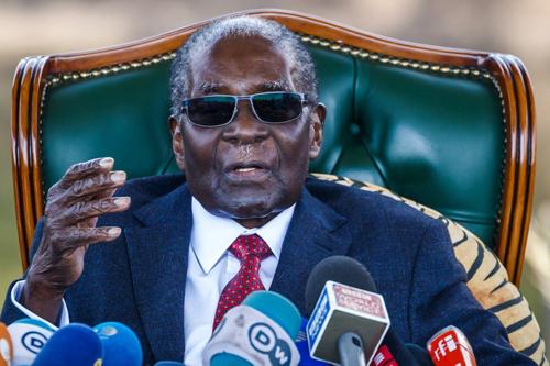 Cựu tổng thống Zimbabwe Robert Mugabe. Ảnh: AFP.