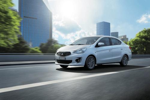 Mitsubishi Attrage nhấn mạnh khả năng tiết kiệm nhiên liệu.