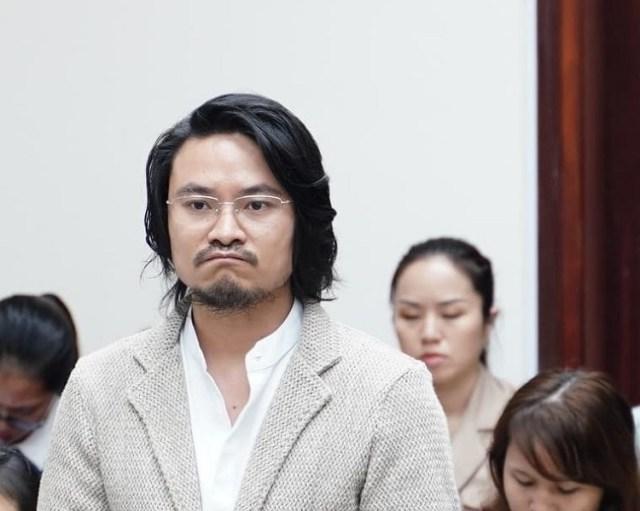 Đạo diễn Hoàng Hữu Nhật Nam được triệu tập tới phiên phúc thẩm với tư cách nhân chứng. Ảnh: HN.