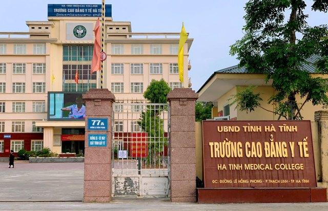 Trường Cao đẳng Y tế Hà Tĩnh, nơi ra quyết định thu hồi bằng tốt nghiệp của 125 học viên. Ảnh: Đức Hùng