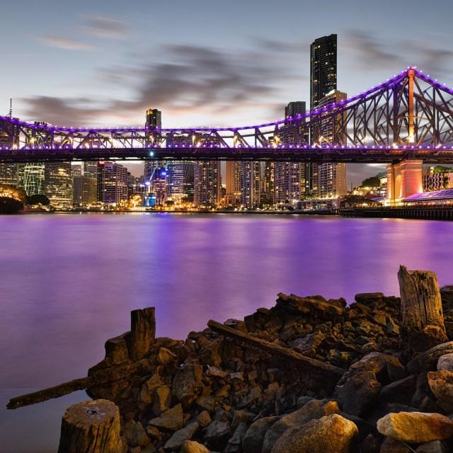 Took this shot of the Story Bridge on Sunday night.