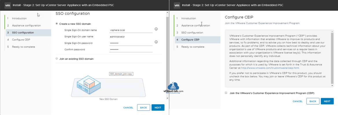 How to deploy vCenter server appliance on VMware