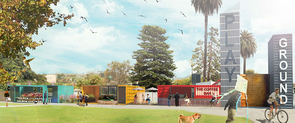 The Play Ground project at Plaza Park will reuse cargo containers for small businesses to use during events.