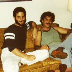 Ventura architect Nick Deitch with brother Stephen James Deitch, circa 1983.