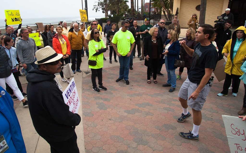 BOILING POINT   Anger after death of Ventura man sparks demonstration, demand for action on city's homeless