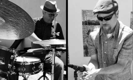 """""""WHATEVER HAPPENS, WE GO THERE""""   The many adventures in music making of improvisational jazz band Boom Duo"""