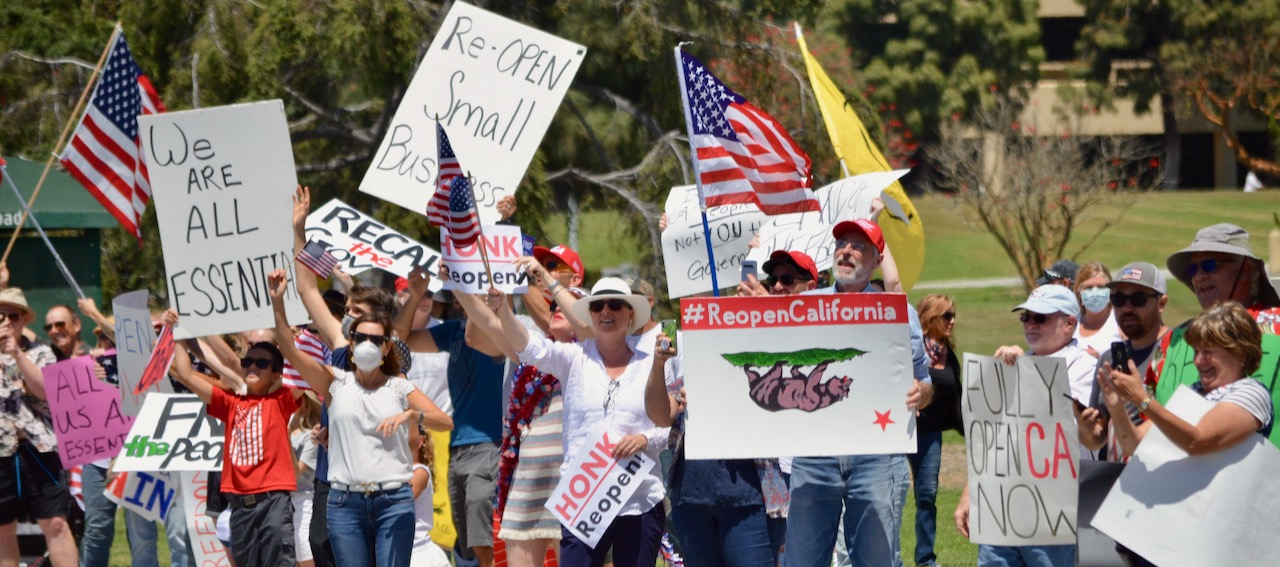 MAY DAY PROTESTS IN VENTURA, OXNARD   Local residents for reopening, rent relief
