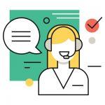 interacao com o cliente durante horario comercial