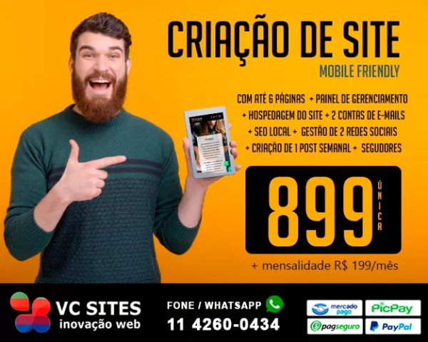 Criação de Site Mobile friendly 1