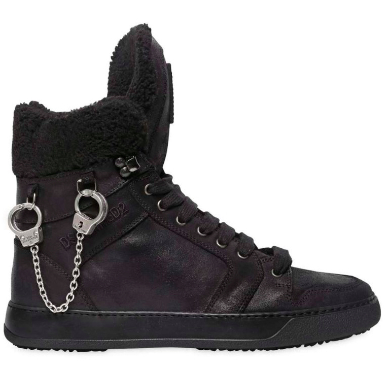 Sneaker with handcuff