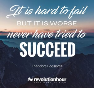 It is hard to fail but it is worse never have tried to succeed