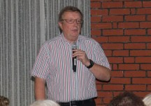 Christian Wyrwich bei seinem Vortrag, Foto Uwe Konrad