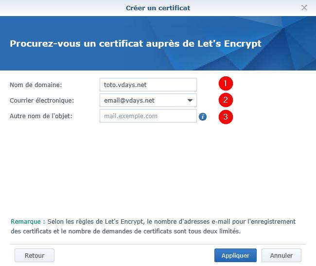 Synology - Generer et installer un certificat SSL