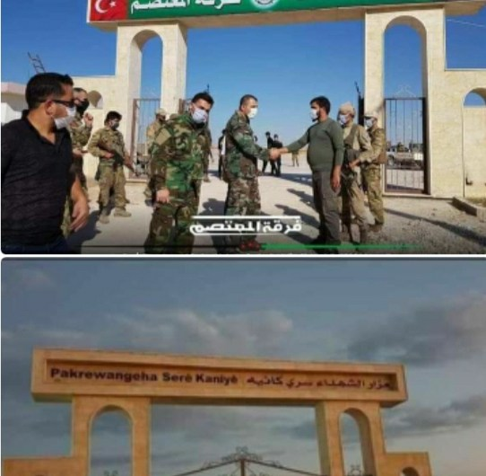 After its graves were bulldozed … the Turkish-backed faction (Al-Mu'tasim Division) turns a cemetery in the town of Ras Al-Ai n into a military base