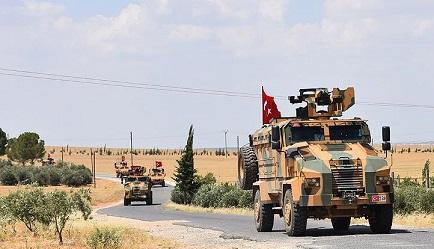القوات التركية تسير دورية ثامنة على خط الفصل في منطقة الساجور