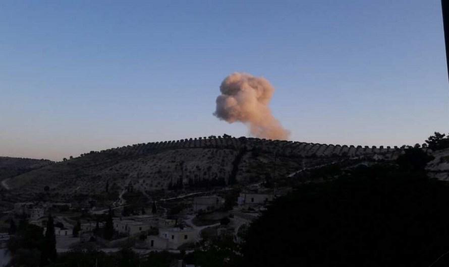 عفرين: تدمير أحد مقرات الحمزات بقصف جوي