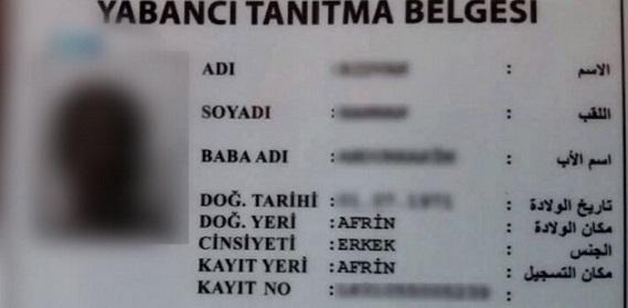 عفرين: حظر التجوال الا بعد الحصول على بطاقة لاجئ/كيملك التركية