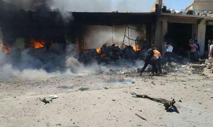 قتلى وجرحى في تفجيرات مزدوجة استهدفت  بلدة أخترين وباب ليمون بريف حلب الشمالي