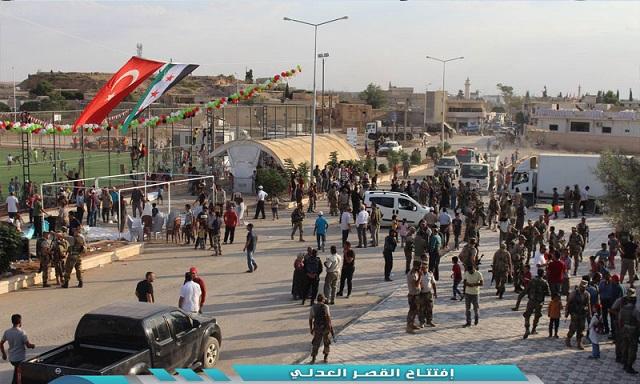 باشراف تركي.. افتتاح قصر عدلي في ريف حلب الشمالي