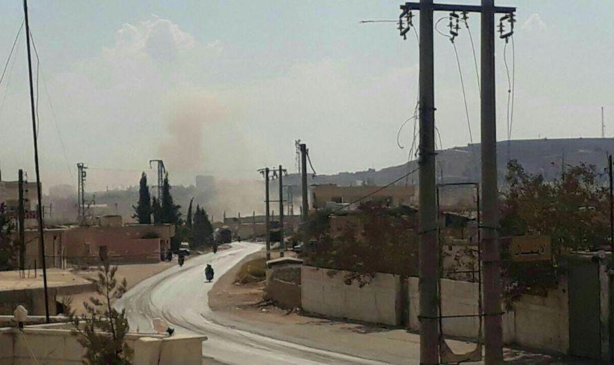جرحى مدنيون بتبادل قصف بين قوات النظام ومسلحين تابعين لتركيا على أطراف مدينة الباب