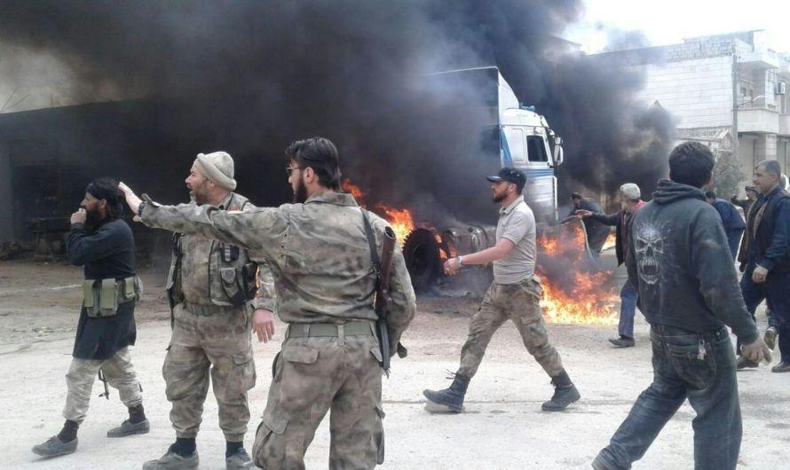 ضحايا في انفجار خزان وقود في اعزاز شمال سوريا