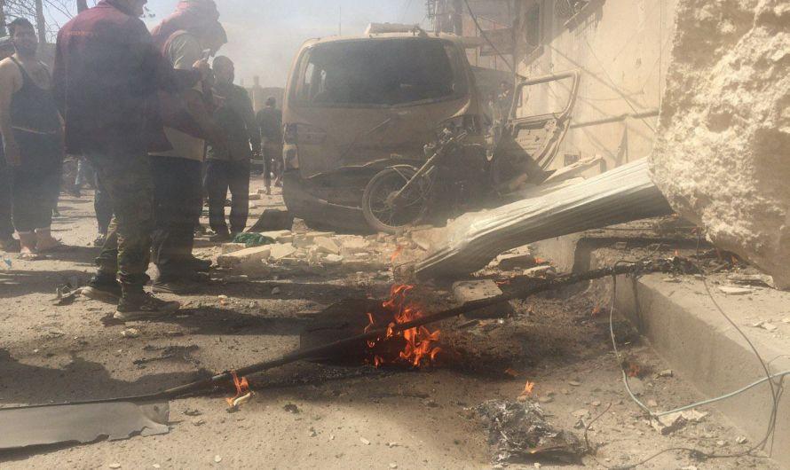 انفجار دراجة نارية مفخخة في مدينة الباب