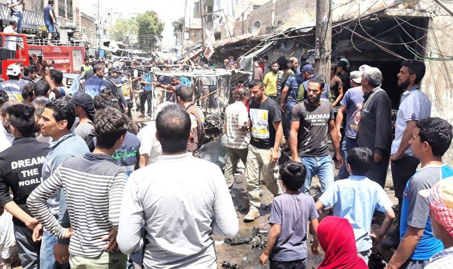 ضحايا في انفجار دراجة نارية مفخخة وسط سوق شعبي في مدينة جرابلس