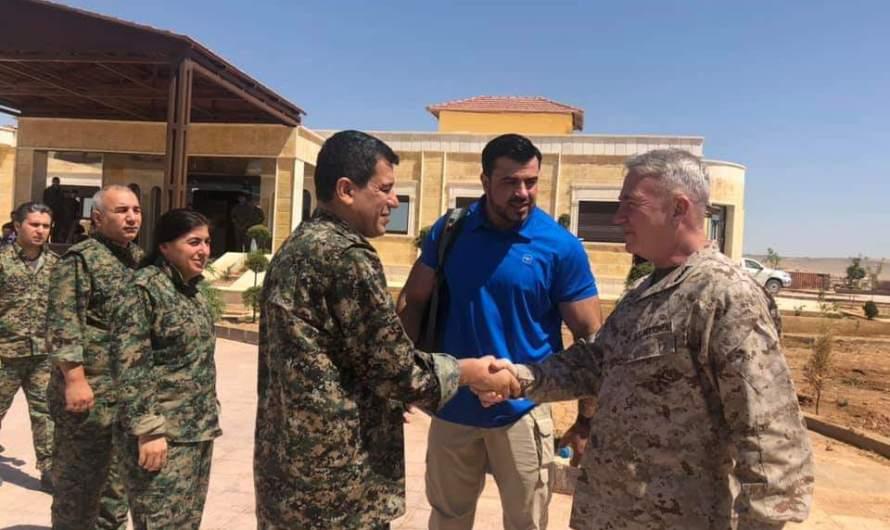 قائد عسكري أمريكي كبير يبلغ قسد إنهم ملتزمون بأمن وحماية شرق الفرات ضد أي اعتداء