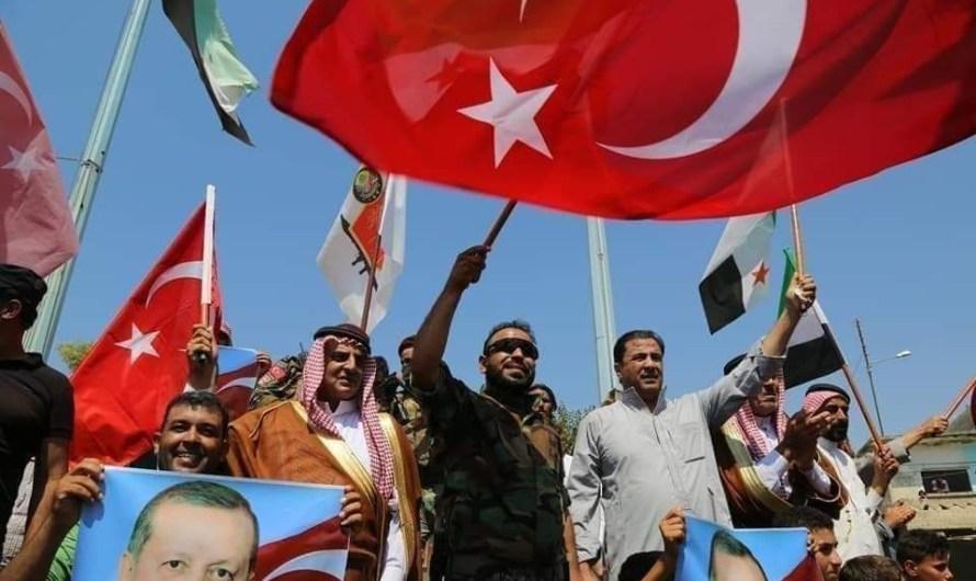 فصائل المعارضة الخاضعة لانقرة تجبر أهالي عفرين على الخروج في مظاهرة مؤيدة لأردوغان