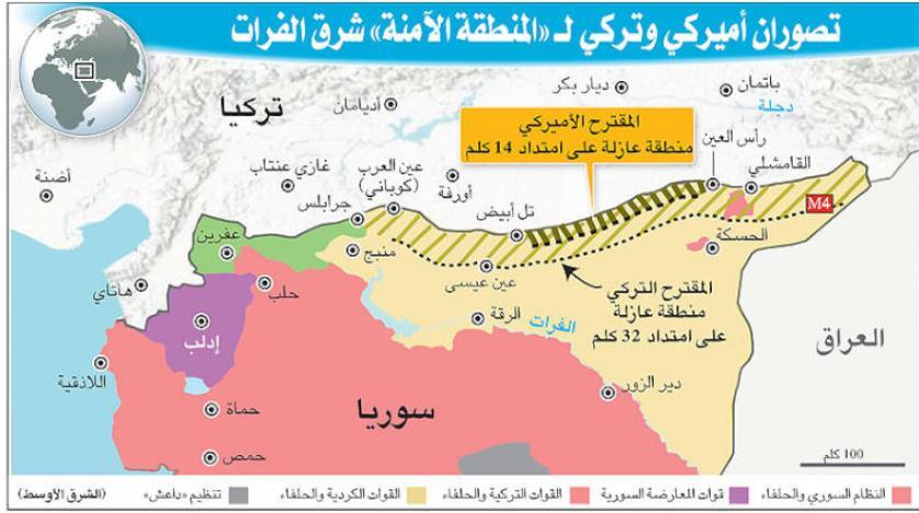 صحيفة أمريكية تكشف عن المراحل الثلاث لتنفيذ اتفاق المنطقة الآمنة..وقسد تبدأ في التطبيق