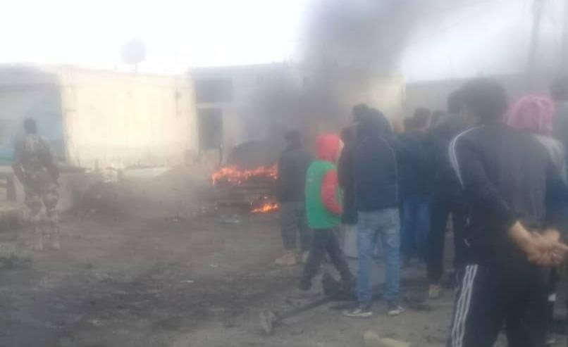 قتلى وجرحى بانفجار عربة مفخخة في مدينة سلوك بريف الرقة