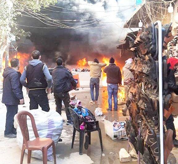 مقتل 8 مدنيين في انفجار شاحنة في عفرين بسوريا