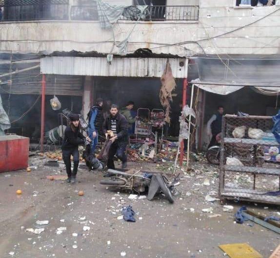 قتلى من الشرطة العسكرية بعد استهداف إحدى مقراتهم في عفرين