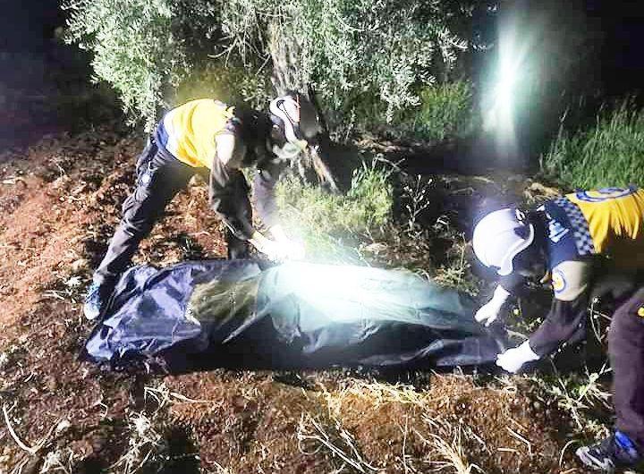 ضمن حالة الفلتان الأمني …  العثور على جثة امرأة ثلاثينية مجهولة الهوية قرب قطمة بريف عفرين