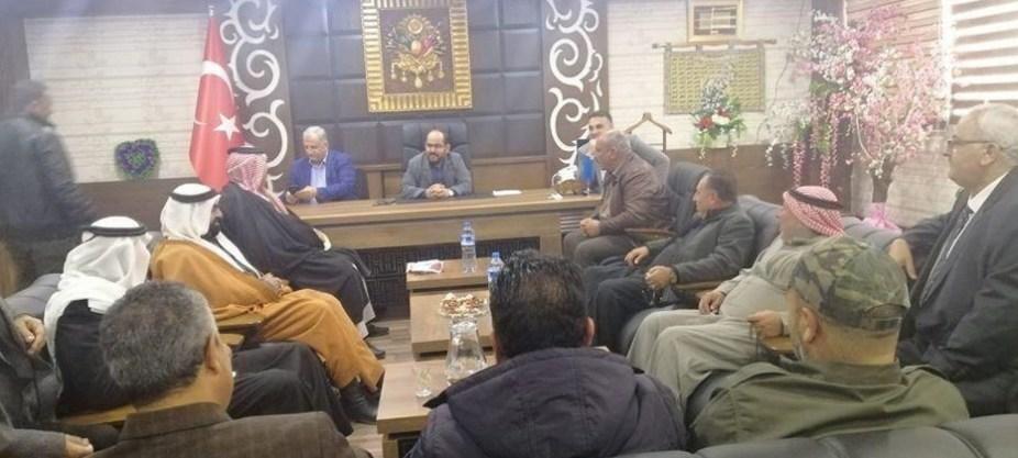 صورة لرئيس الحكومة السورية المؤقتة في مقر المجلس المحلي لعفرين 8 ديسمبر، 2019