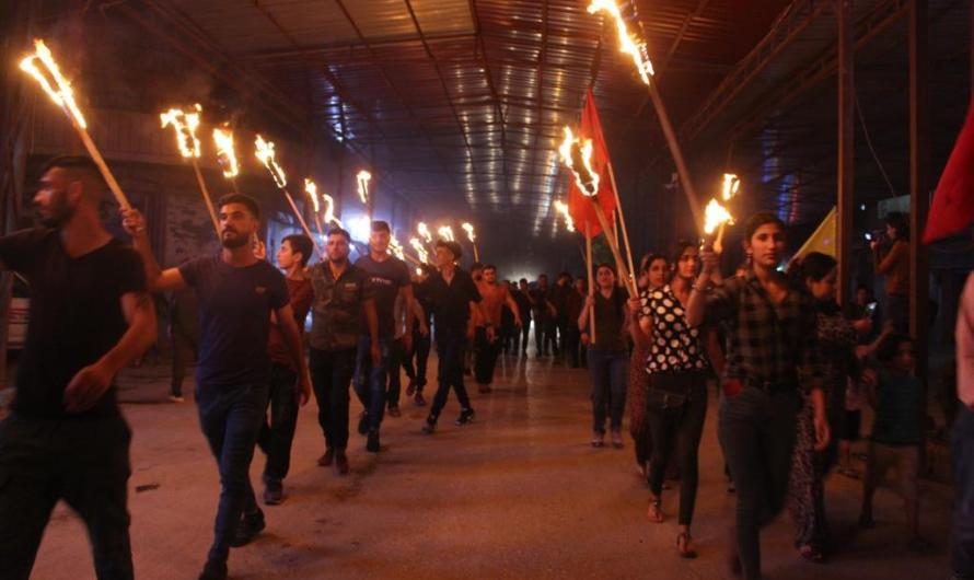 تظاهرات واسعة في شمال سوريا تندد بالانتهاكات التركية وتحظر من مشاريعها في المنطقة