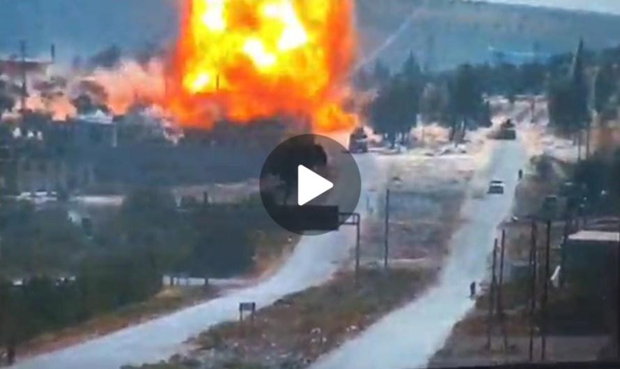 إصابات في انفجار يستهدف دورية تركية روسية مشتركة في إدلب السورية