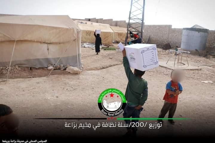 مقتل طفل في مخيم بزاعة بريف حلب في انفجار قنبلة يدوية