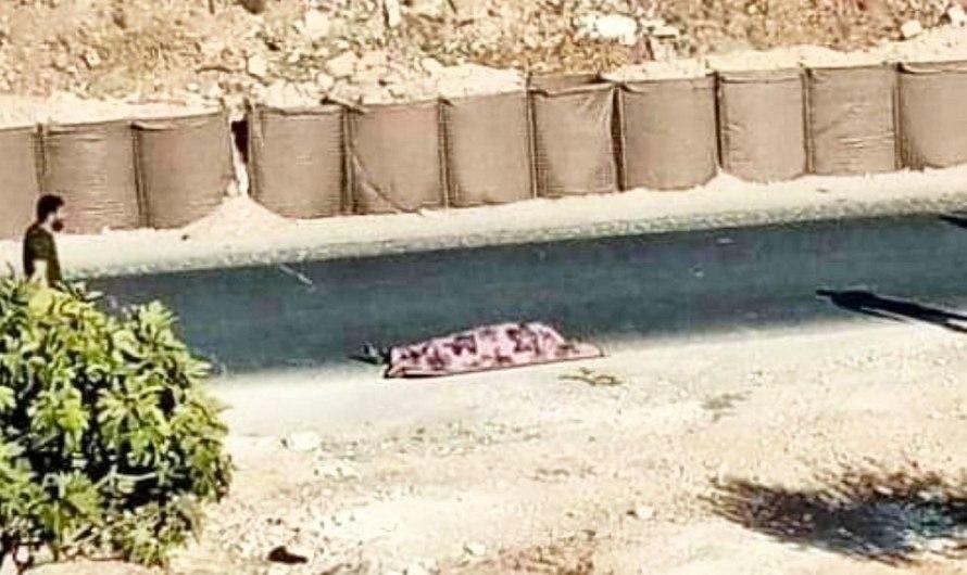 مقتل امرأة برصاص الجنود الأتراك أمام معسكر المسطومة في إدلب