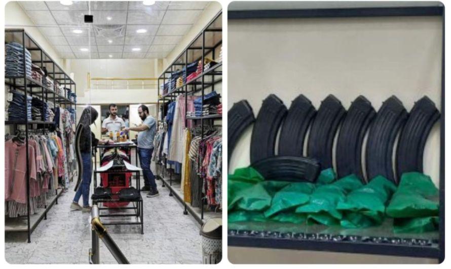 من محل بيع الألبسة إلى محل لتجارة الأسلحة بعد نهبه في مدينة رأس العين من قبل مسلحين موالين لتركيا