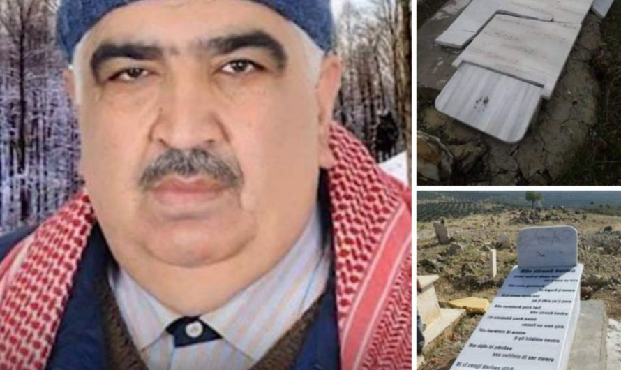 جرائم: مسلحون موالون لتركيا يقومون بهدم قبر شاعر كردي في عفرين