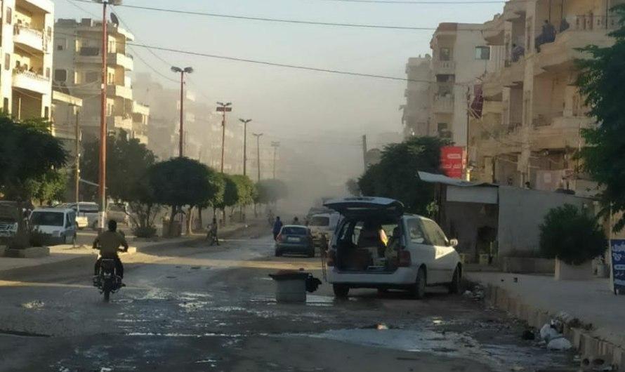 إصابات جراء قصف صاروخي استهدف مركز مدينة عفرين