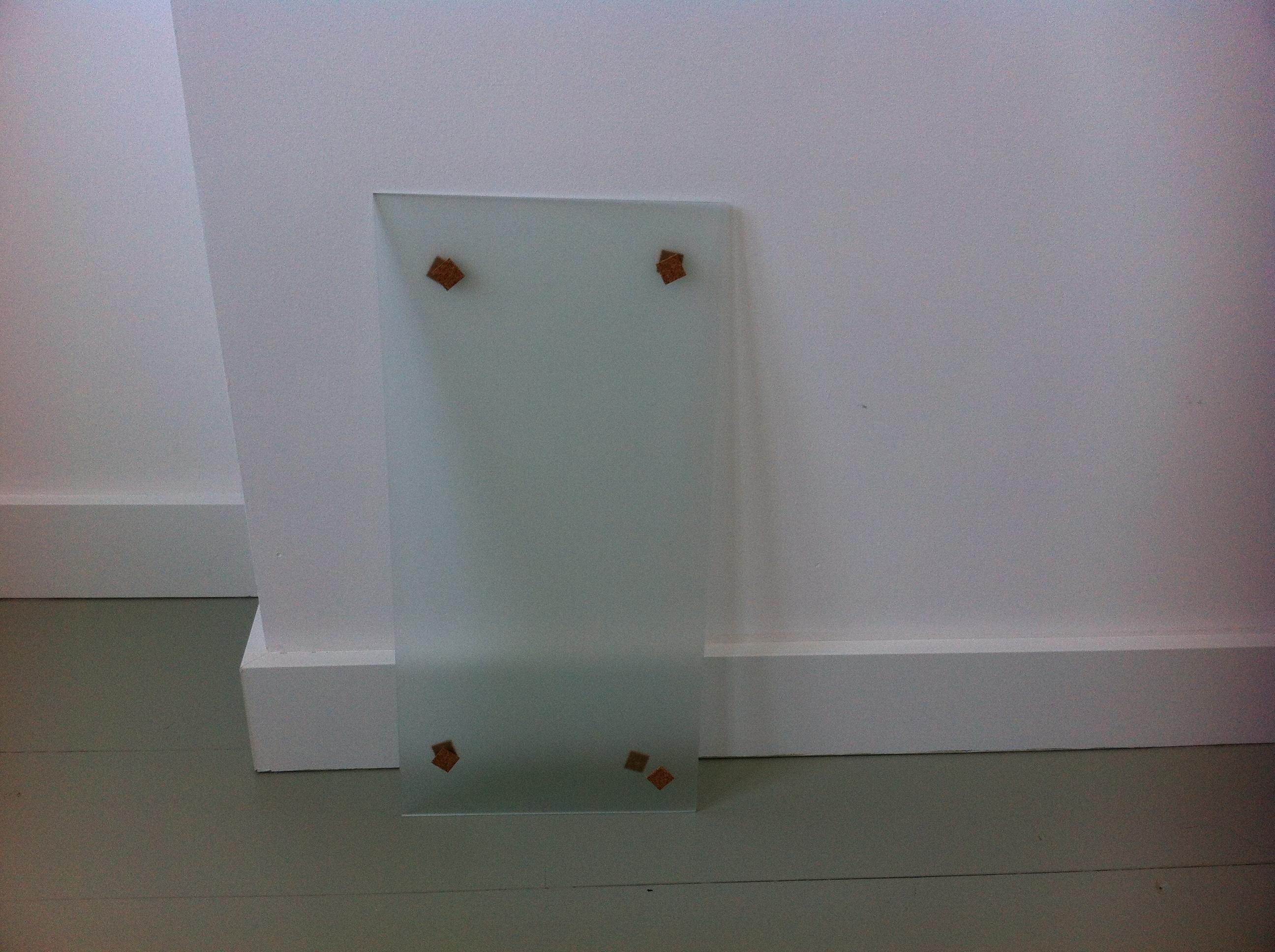 mettre une vitre dans une porte