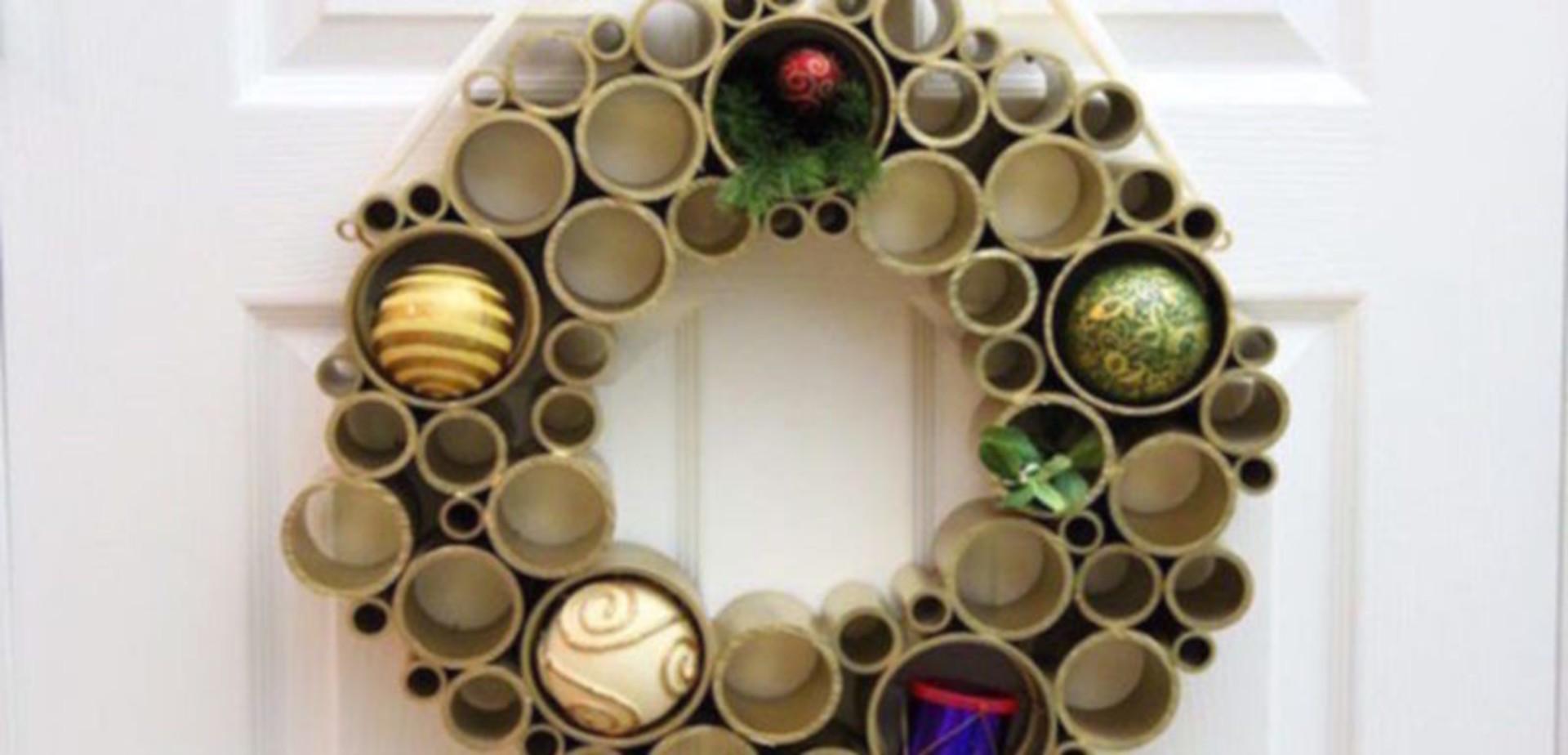 Kerstkrans van PVC  voordemakersnl