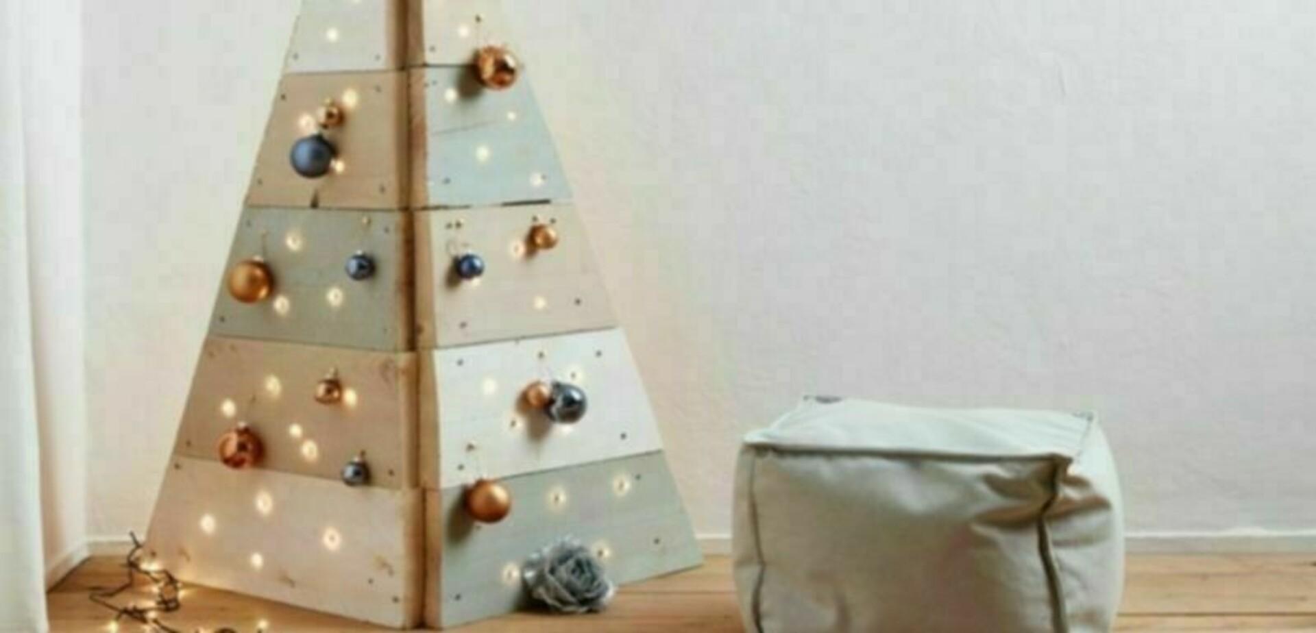 Houten kerstboom van steigerhout  voordemakersnl