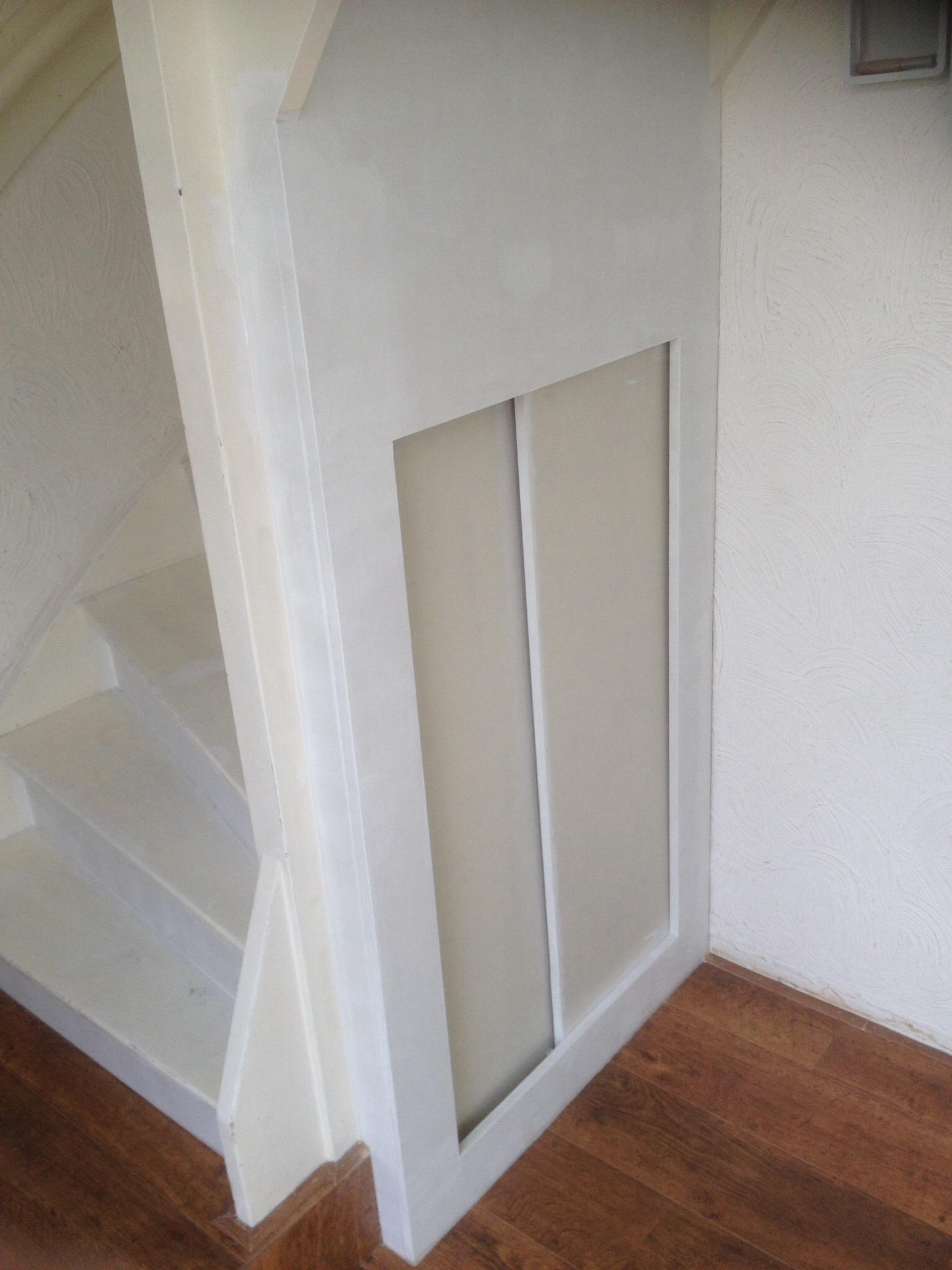 Trap dichtmaken met kastje eronder  voordemakersnl