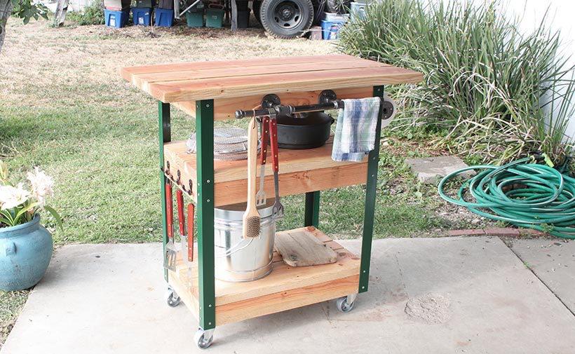 Barbecue tafel op wielen  voordemakersnl