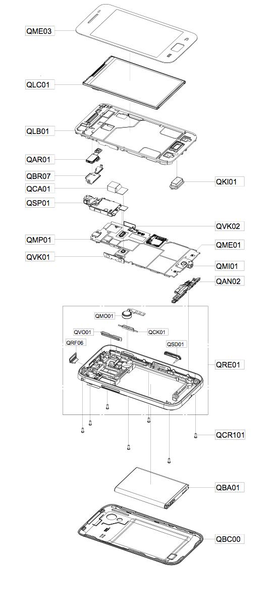 Инструкция разборки Samsung S5830